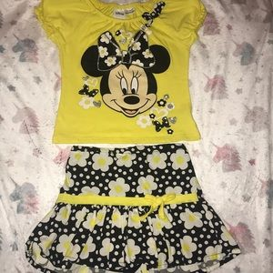 A two piece set with Minnie Mouse